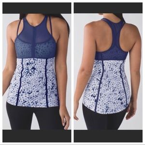 Lululemon Pedal Pace Tank Star Crush Silver Fox 10